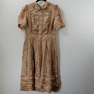 NWT Marc Jacobs Bronze Printed A-line Dress Size 6